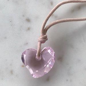 Swarovsky baby pink heart crystal